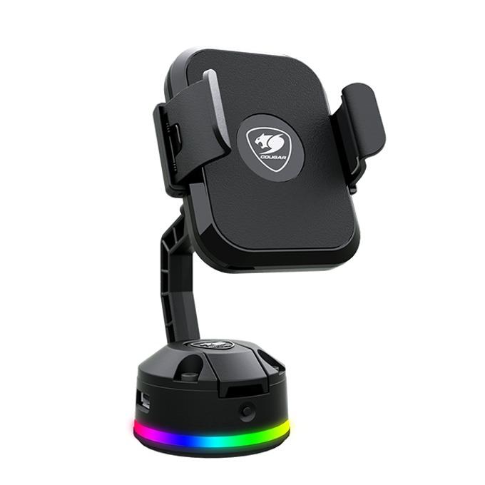 Безжично зарядно Cougar Bunker M RGB, от USB-A(ж) към безжично зарядно, черно image