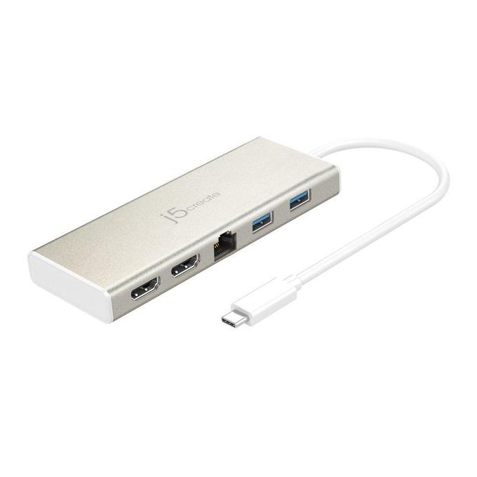 Докинг станция j5create JCD381 Mini Dock, 2x USB 3.0, LAN1000, 1x USB 3.0 Type C, 2x HDMI image