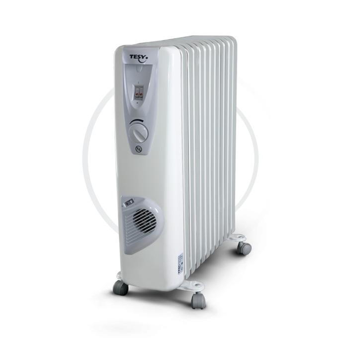 Радиатор Tesy CB2512E01V, 12 ребра, 3 степени на работа, термостат, външно регулиране, 2500W, бял image