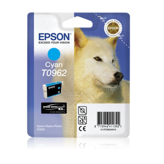 ГЛАВА ЗА EPSON Stylus Photo R2880 - Cyan - T0962 - P№ C13T09624010 - 11.4ml image