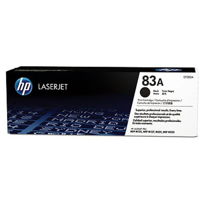 HP 83A Black LaserJet Toner Cartridge (CF283A)