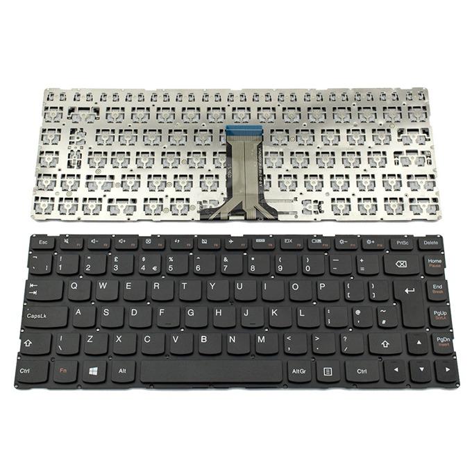 Клавиатура за Lenovo 300S-14ISK/500S-14ISK/S41-35/S41-70/S41-75/U41-70, UK, без рамка, черна image