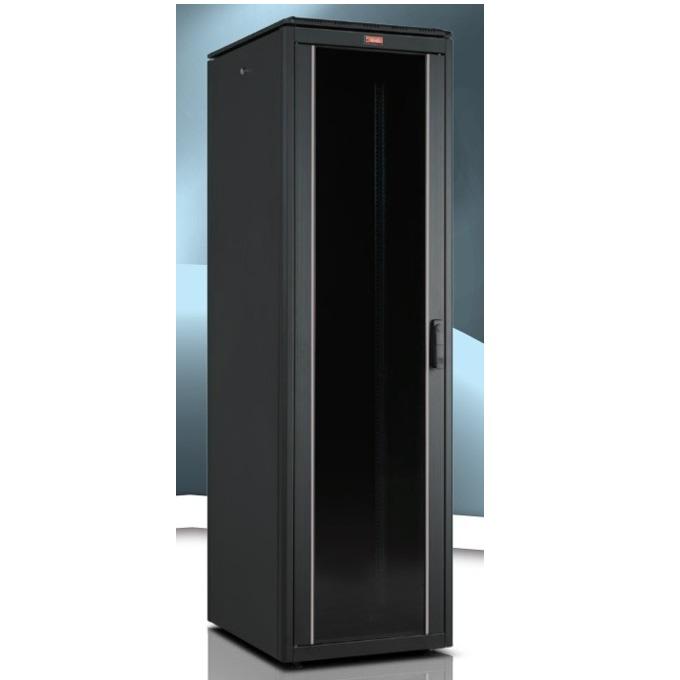 """Комуникационен шкаф Lande LN-FS32U6080-CC-111, 19"""", 32U, 600 x 800 мм, стъклена врата, черен image"""