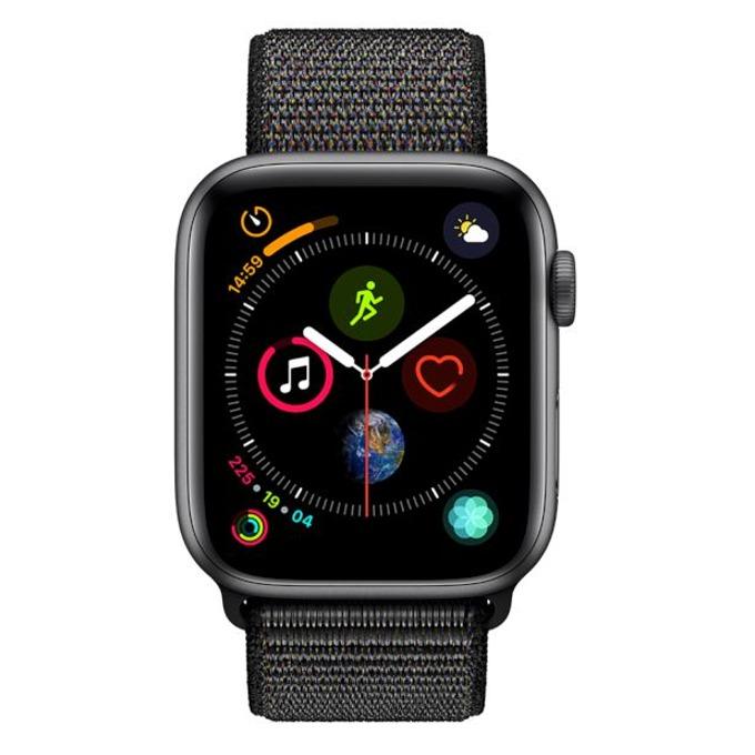 Смарт часовник Apple Watch S4 44mm, OLED дисплей, водоустойчив, спортна каишка, черен image