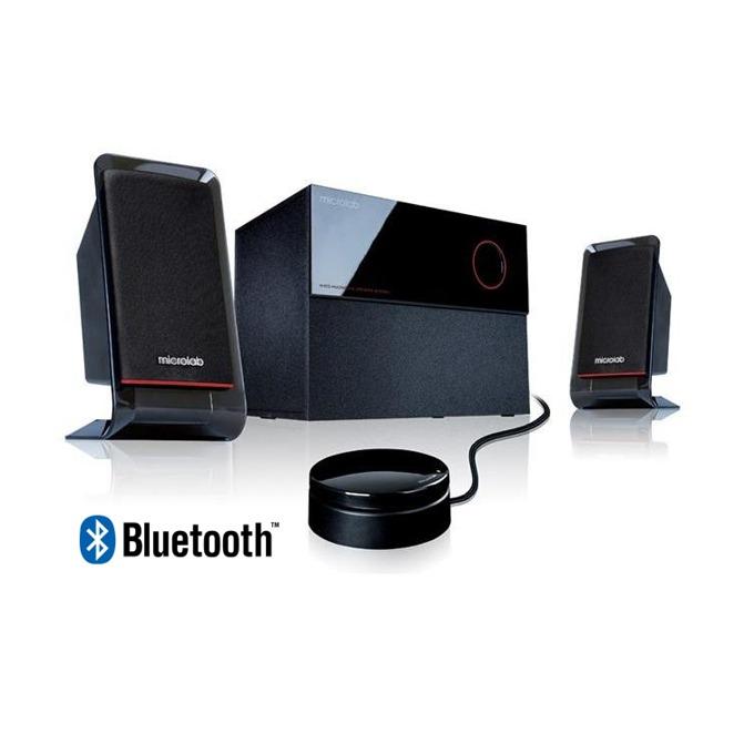 Тонколони Microlab M 200, 2.1, 40W(16W + 2x 12W), Bluetooth 4.0, 3.5мм жак, жично дистанционно, черни image