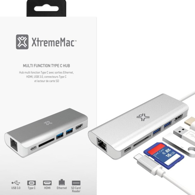 USB хъб XtremeMac TYPE-C HUB PLUS, 6 порта, USB 3.0 image