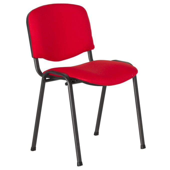 Посетителски стол Carmen 1130 LUX, дамаска, прахово боядисан, червен image