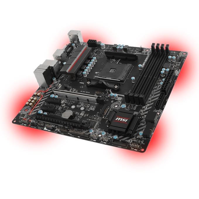 Дънна платка MSI B350M MORTAR, B350, AM4, DDR4, PCI-E(DP, HDMI, DVI)(CF), 4x SATA 6Gb/s, 1x M.2 slot, 1x USB 3.1 Gen 1 Type-C, 3x USB 3.1 Gen 1 Type-A, 2x USB 2.0, M-ATX image