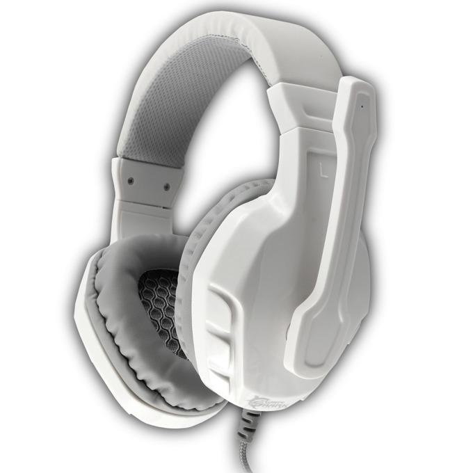 Слушалки WHITE SHARK GHS-1641 PANTHER, бял-сребрист image