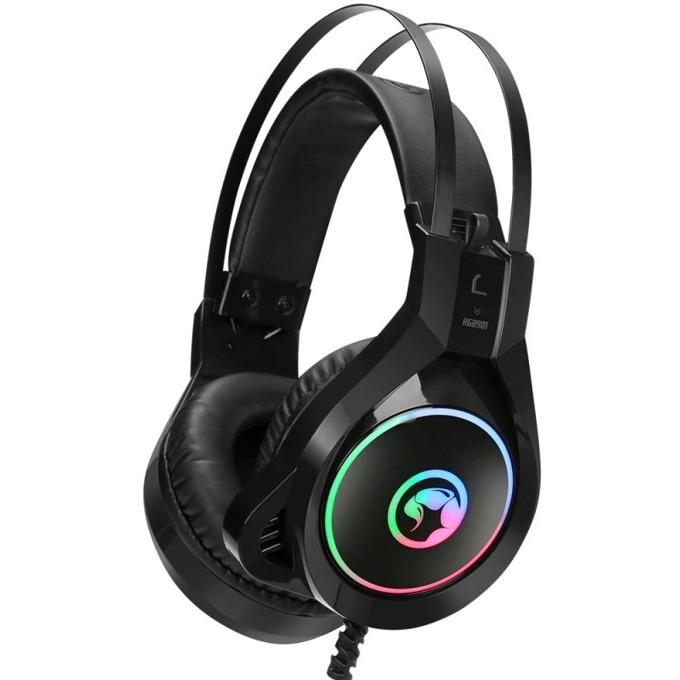 Слушалки Marvo HG8901, микрофон, AUX, RGB подсветка, черни image