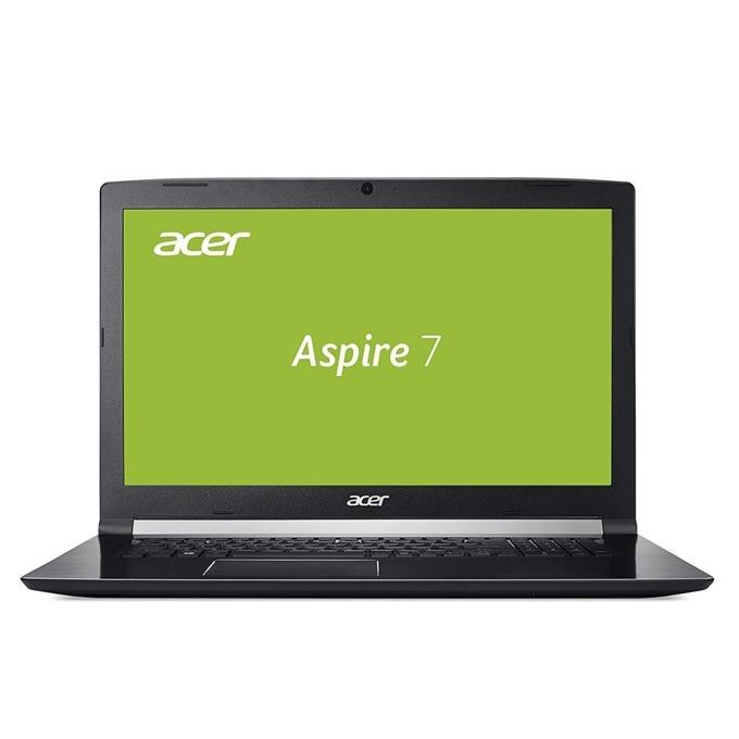 "Лаптоп Acer Aspire 7 A717-72G-77VH (NH.GXDEX.047), шестядрен Coffee Lake Intel Core i7-8750H 2.2/4.1 GHz, 17.3"" (43.94 cm) Full HD IPS Anti-Glare Display & GTX 1050 4GB, (HDMI), 8GB DDR4, 1TB HDD & 256GB SSD, 1x USB 3.1 Type CLinux, 3.0 kg image"