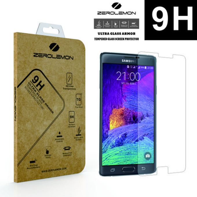 Протектор от закълено стъкло /Tempered Glass/ 0.3mm, 9H, Zerolemon за Samsung Galaxy Note 4 image