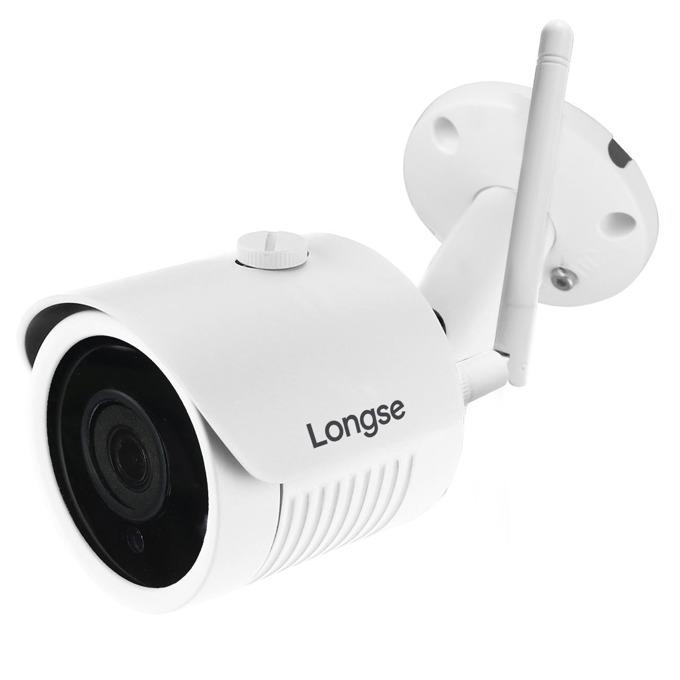 "IP камера Longse KZL-LBH30S200W, насочена ""bullet"", 1920x1080@25fps, 3.6mm обектив, H.264/H.265/JPEG/AVI/MJPEG, IR осветеност (до 30 метра), външна, IP66 защита, поддържа PoE, Wi-Fi, LAN100 image"