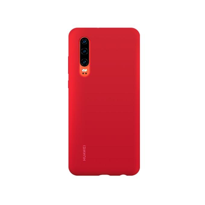 Калъф за Huawei P30, Elle, магнитен, силиконов, червен image