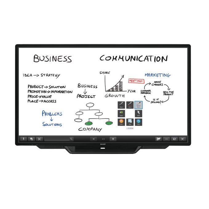 "Интерактивен дисплей Sharp PN80TC3A, 80"" (218.44 cm), Full HD touchscreen дисплей, LAN, VGA, HDMI, DisplayPort, USB, RS232 image"