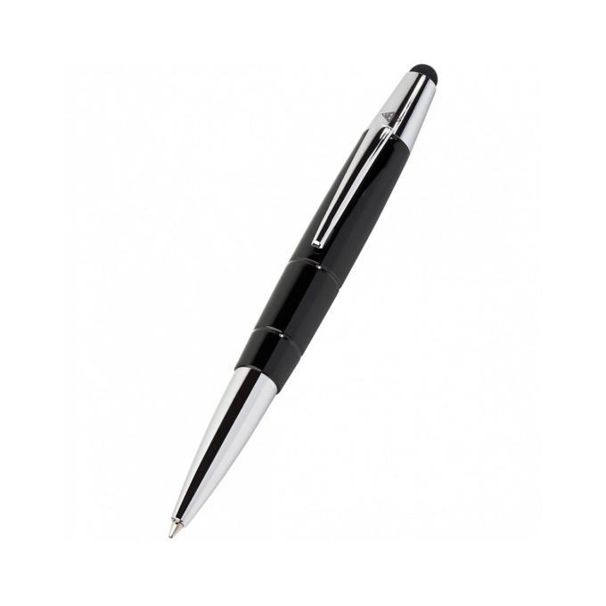 Химикалка Wedo Pioneer Touch Pen, син цвят на писане, 1.0 mm, черна/бяла, може да се използва за тъч устройства, цената е за 1бр. (продава се в опаковка от 12бр.) image