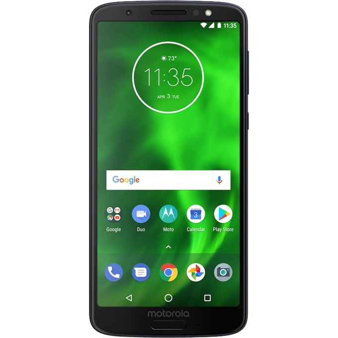 """Motorola Moto G6 Plus (черен), поддържа 2 sim карти, 5.9"""" (14.98 cm) Full HD+ IPS дисплей, осемядрен Qualcomm Snapdragon 630 2,2 GHz, 4GB RAM, 64GB Flash памет (+ microSD слот), двойна основна камера 12.0 + 5 MPix и 8 MPix задна, Android, 167g image"""