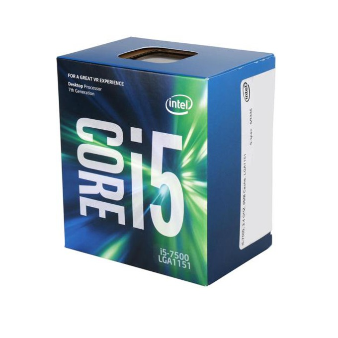 Процесор Intel Core i5-7500 четириядрен (3.4/3.8GHz, 6MB Cache, 350MHz-1.10GHz GPU LGA1151) BOX, с охлаждане image
