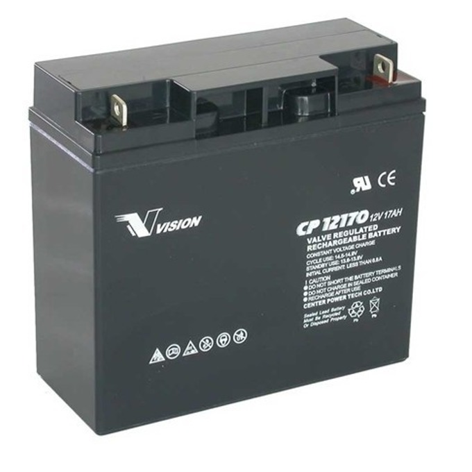 Акумулаторна батерия Vision CP12170, 12V, 17Ah, AGM image