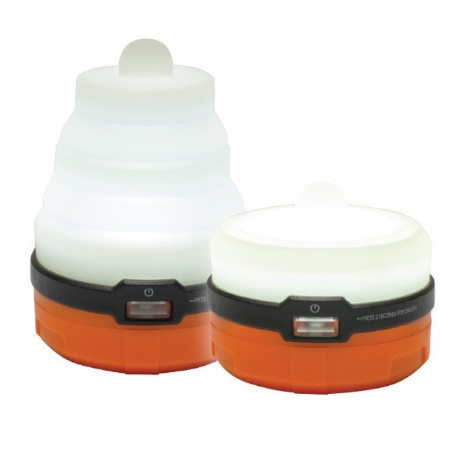 Фенер UST Brands Spright 3AAA, 3x AAA, 57 lumens, с разгъване, авариен, 2 броя, оранжев image