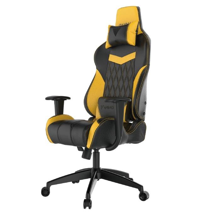 Геймърски стол Gamdias Achilles E2-L, кожа, до 200kg, черен/жълт image