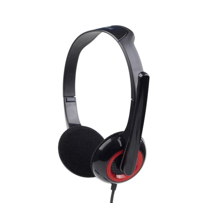 Слушалки Gembird MHS-002, микрофон, черни image