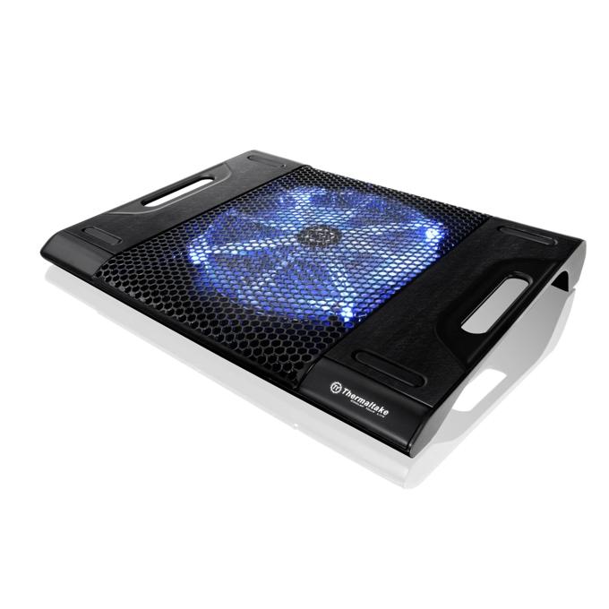 """Охлаждаща поставка за лаптоп Thermaltake Massive23 LX, за лаптопи до 17"""" (43.18 cm), 230мм светещ вентилатор, черна image"""