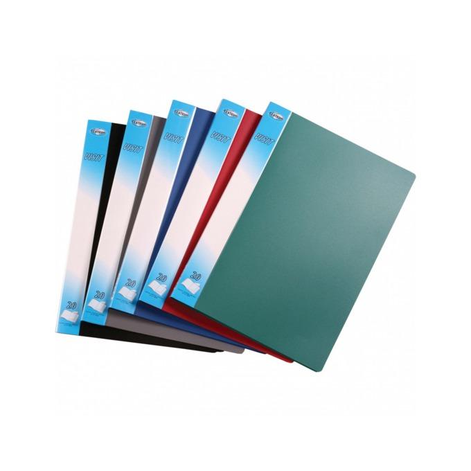 Папка Centrum Visit, за документи с формат до А4, с 20 джоба, различни цветове image