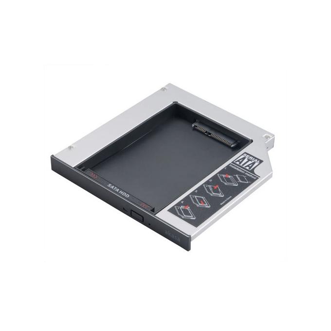 """Адаптор DVD Slim към 2.5"""" (6.35 cm) SATA HDD/SSD, 12.7mm image"""
