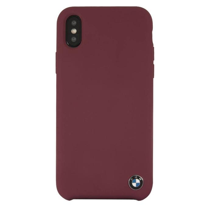 Калъф Apple iPhone X, страничен протектор с гръб, термополиуретанов(TPU), BMW Signature Silicone Hard Case, Shock Absorbent, вътрешната част е от микрофибър, червен image