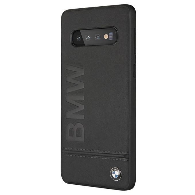 Калъф за Samsung Galaxy S10, естествена кожа, BMW Signature Genuine Leather Soft Case BMHCS10LLSB, черен image
