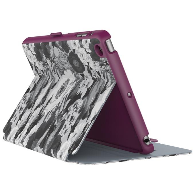 "Калъф тип ""бележник"" Speck StyleFolio за iPad Mini 4, тъмнолилав/сив с щампа image"