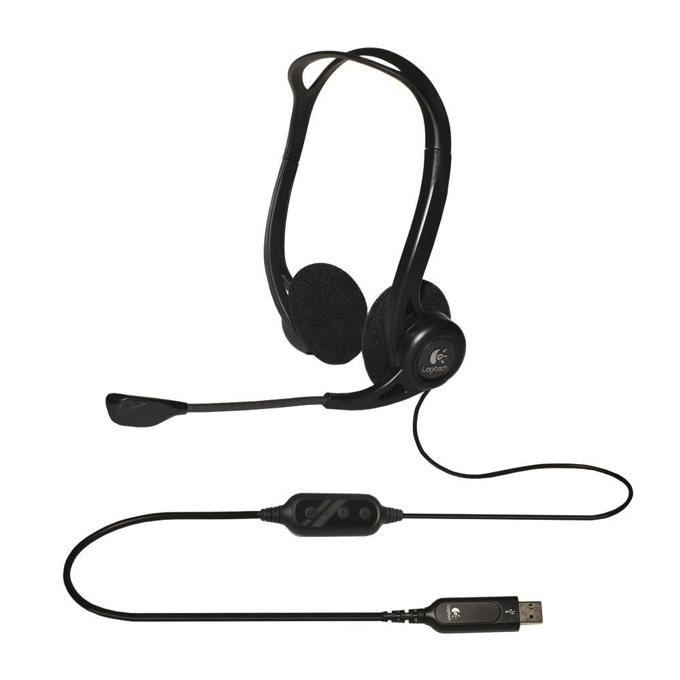 Слушалки Logitech H960, микрофон, бързи бутони, USB, черни image