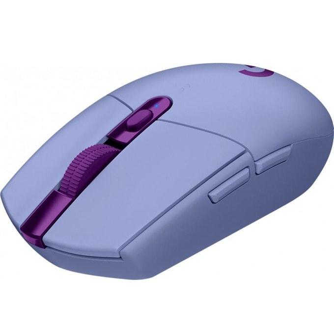 Мишка Logitech G305 Lightspeed, оптична (12 000 dpi), безжична, USB, лилава, гейминг, 6 програмируеми бутона image