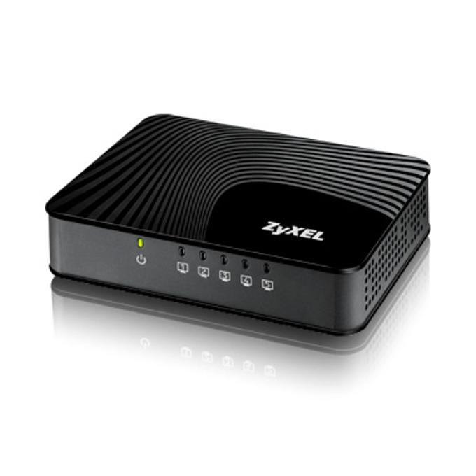 Суич ZyXEL GS-105S v2, 1000Mbps, 5 порта, 5x RJ-45 10/100/1000 Mbps image