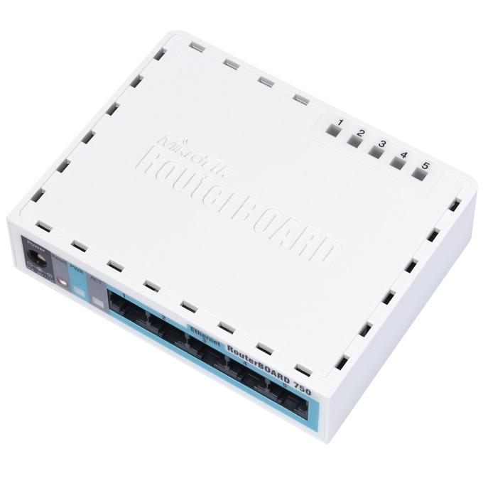 Рутер MikroTik RB750, 5x LAN 10/100, 32MB RAM image