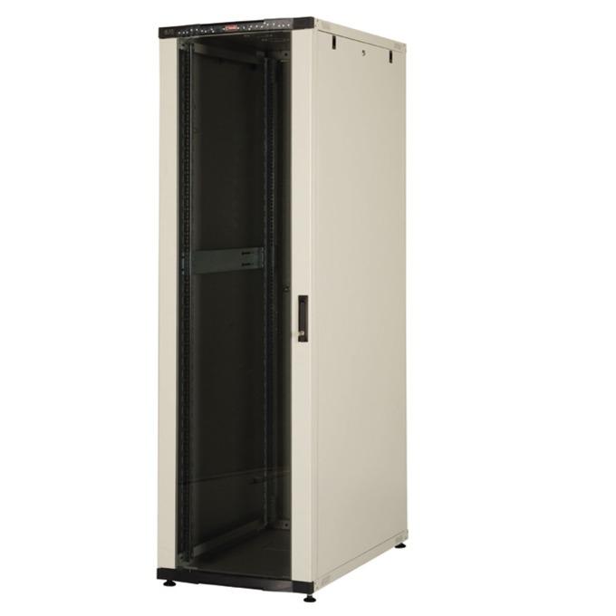 """Комуникационен шкаф Lande LN-CK22U6010-BL, 19"""", 22U, 600 x 1000 мм, стъклена врата, LCD термометър, черен image"""