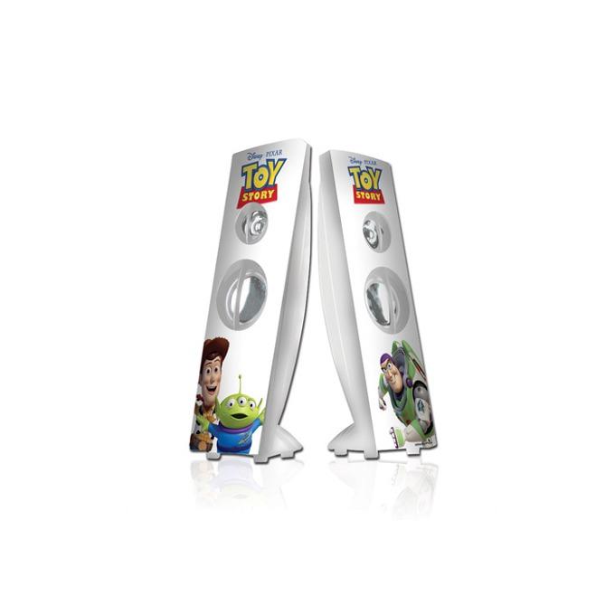 Тонколони Disney Toy Story, 2.0, RMS 4W (2W + 2W), USB, бели с картинки  image
