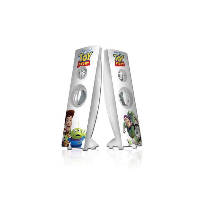 Тонколони Disney Toy Story, 2.0, RMS 4W (2W + 2W), USB, бели с картинки  image