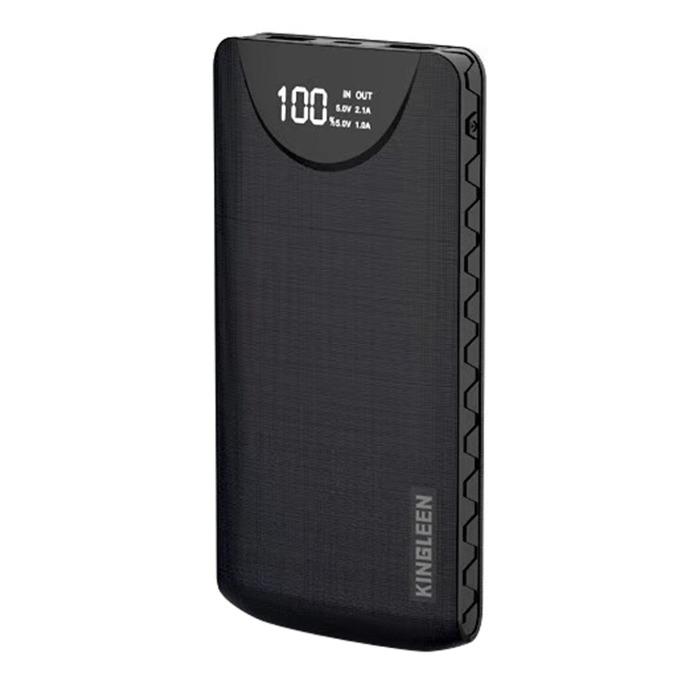 Външна батерия /power bank/ Kingleen 338S Double USB, 10000mAh, черна image