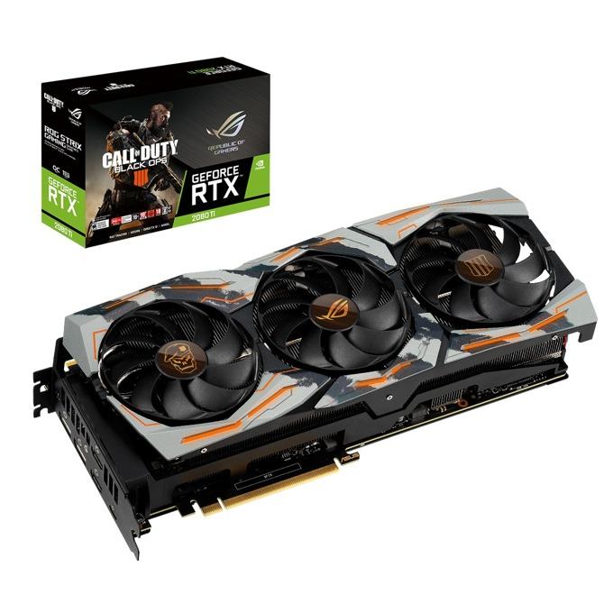 Видео карта Nvidia GeForce RTX 2080 Ti, 11GB, ASUS Rog Strix Call of Duty Black Ops 4 Edition, PCI-E 3.0, GDDR6, 352 bit, 2x DisplayPort, 2x HDMI, USB-C image