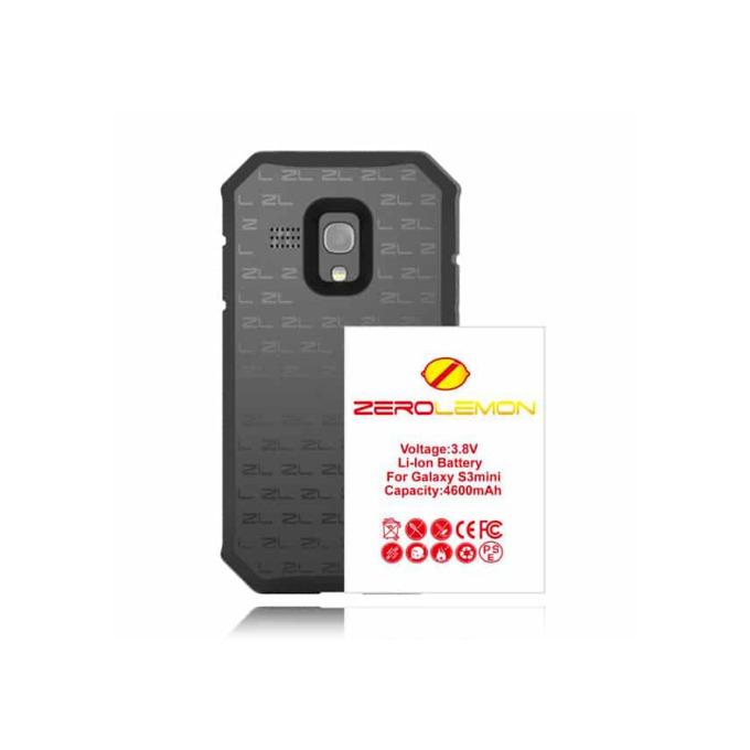 Протектор Zerolemon с батерия за Samsung Galaxy S3 Mini, черен image
