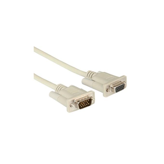 Кабел Roline 11.01.6518, VGA(м) към VGA(ж), 1.8m, бял image