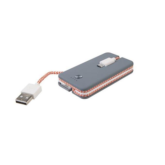Външна батерия/power bank/ A-Solar Xtorm Spark Power Cable CX007 1200 mAh, сив image