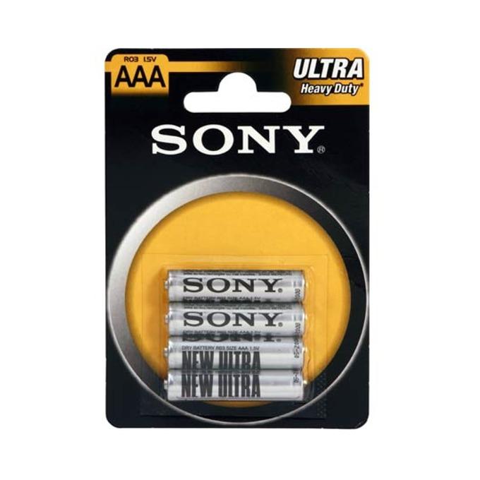 Батерии цинкови Sony New Ultra AAA R03, 1.5V, 4 бр.  image