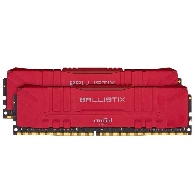 Памет 16GB(2x8GB) DDR4 3000MHz, Crucial Ballistix (Red) BL2K8G30C15U4R , 1.35V image