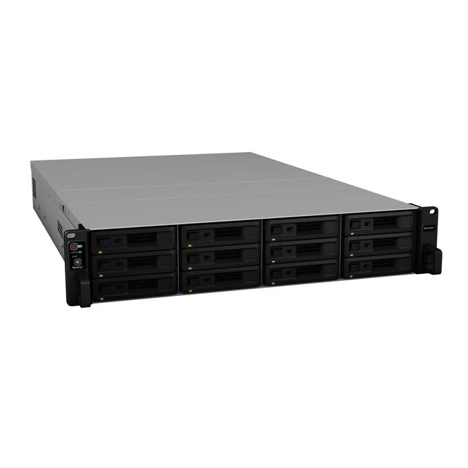 "Мрежови диск (NAS) Synology RackStation RS2418+(EW), четириядрен Denverton Intel Atom C3538 2.1GHz, без твърд диск(12x 2.5""/3.5"" SATA HDD/SSD), 4GB DDR4 RAM, 4x Lan1000, 2x USB 3.0 image"