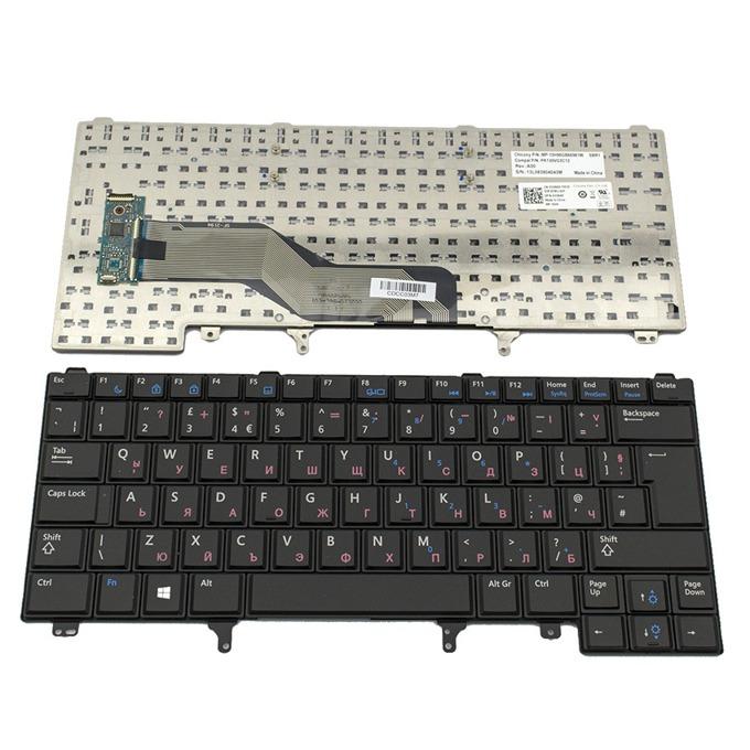 Клавиатура за Dell Latitude E6230/E6320/E6330/E6420/E6430/XT3/E5420/E5430, UK, с кирилица, черна image