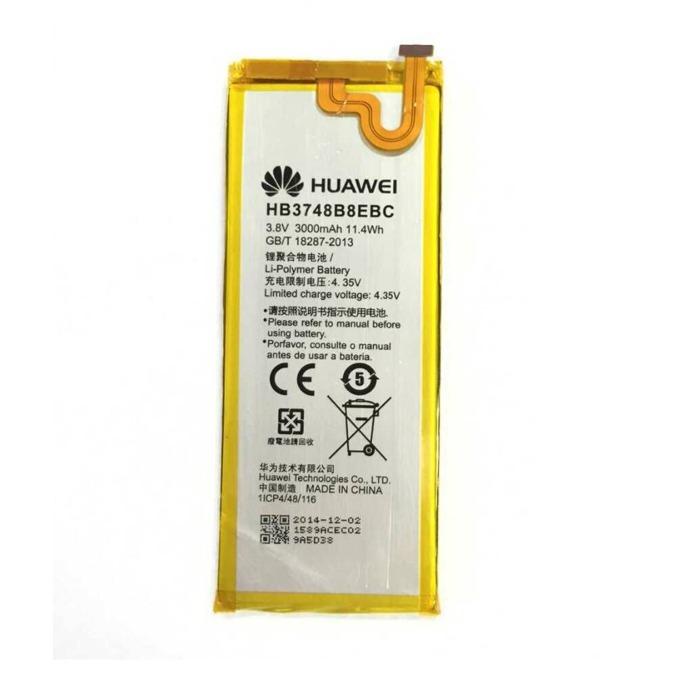 Батерия (оригинална) Huawei HB3748B8EBC, за Huawei Ascend G7, 3000mAh/3.8V, Bulk image