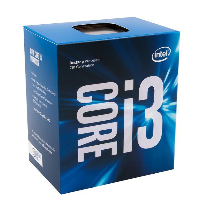 Intel Core i3-7100 двуядрен (3.9GHz, 3MB Cache, 350MHz-1.10GHz GPU, LGA1151) BOX image